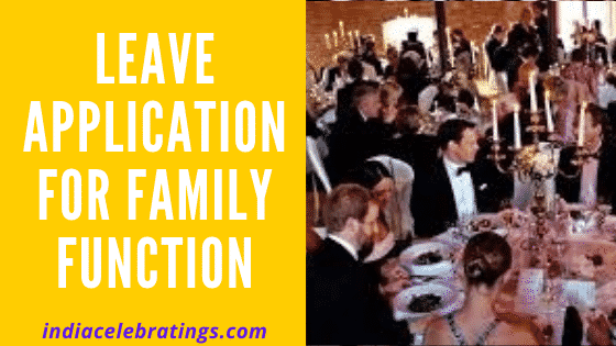 leave application for family function