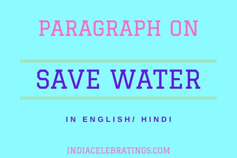 paragraph on save water
